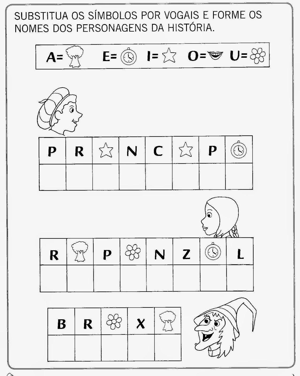 Para Quem Ama Alfabetizacao Rapunzel