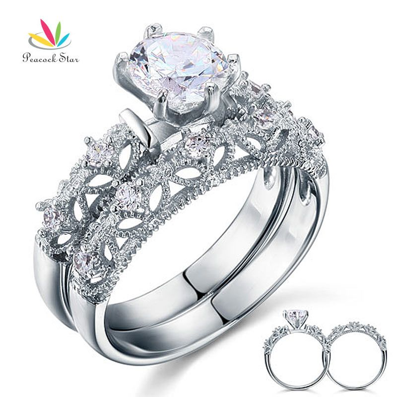 ring wedding heart on from sterling silver created item cut carat star diamond jewelry promise peacock rings engagement in accessories