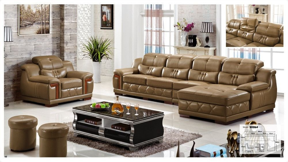 Iexcellent European Sofa Recliner Italian Leather Set Living Room Furniture