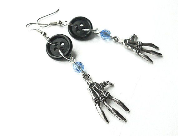 Unavailable Listing On Etsy Coraline Coraline Tattoo Skeleton Earrings