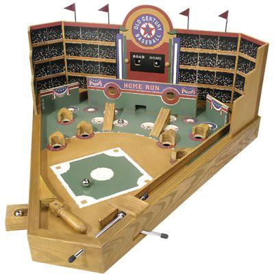 Vintage Games The Automata Blog Retro Wood Pinball Style Baseball
