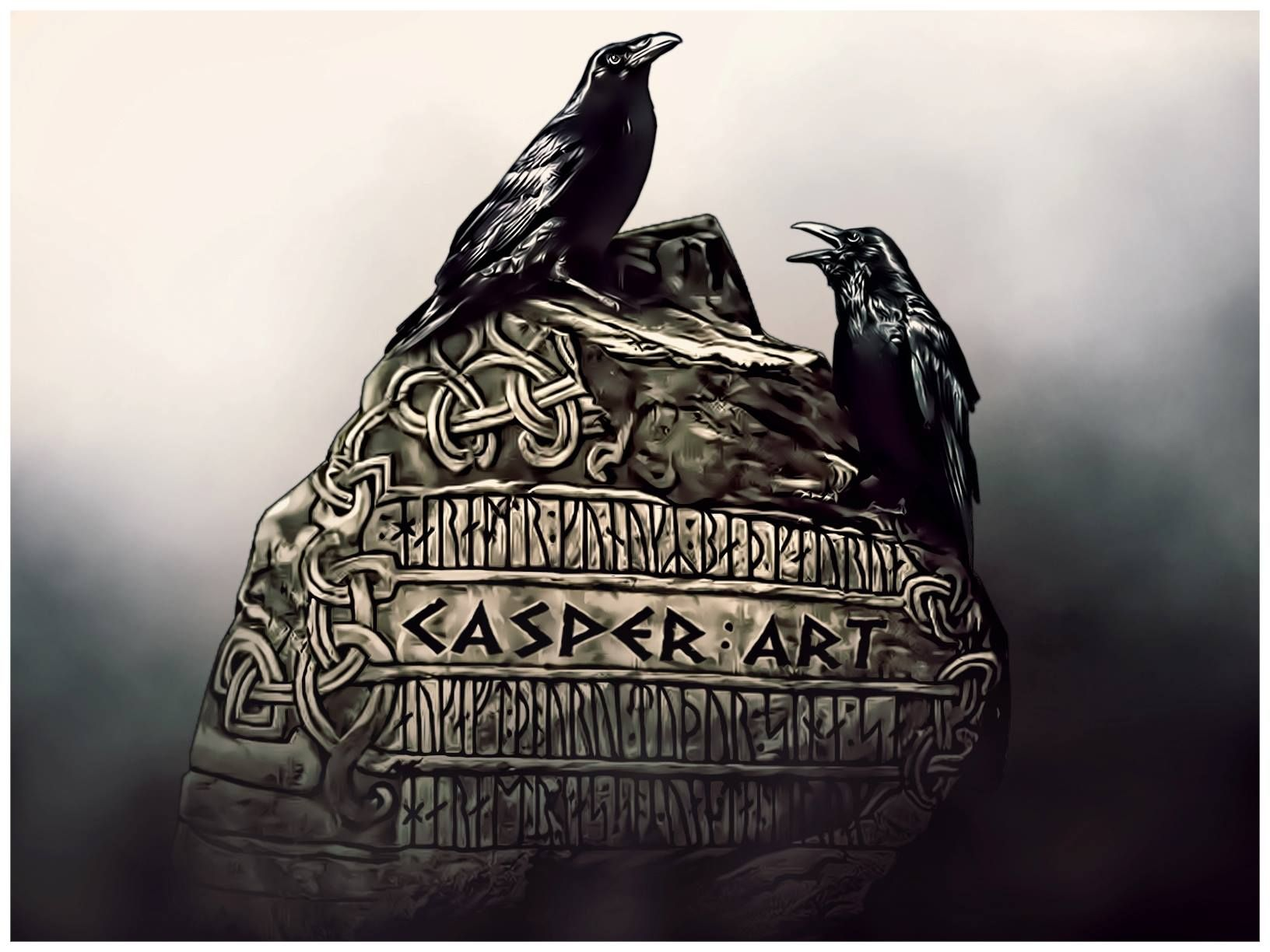 Huginn And Muninn The Raven Was A Symbol Of Cunning And Wisdom