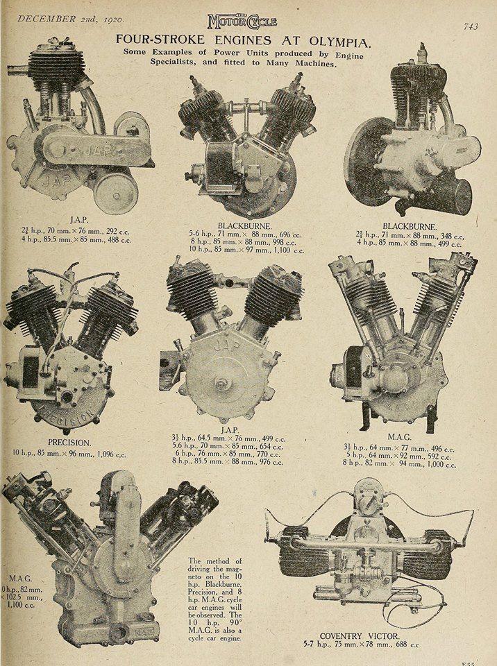 1920 poster showing single cylinder \u0026 v twin jap engines vintage1920 poster showing single cylinder \u0026 v twin jap engines