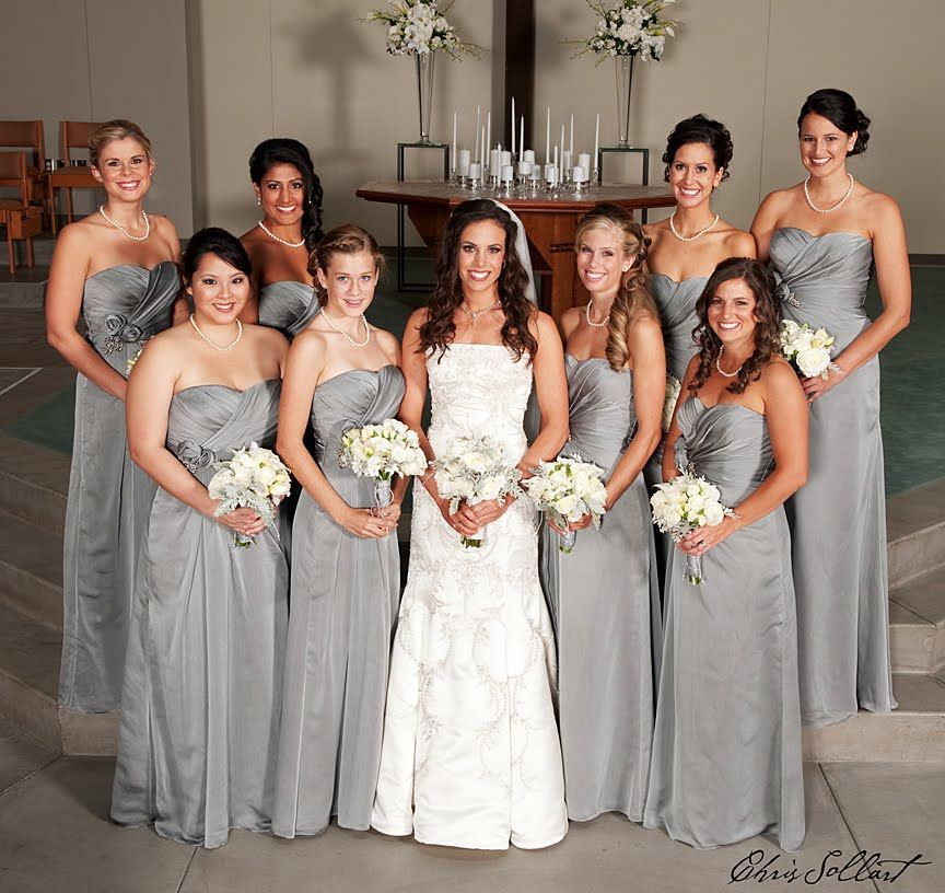 Silver Wedding Dress Ideas : Silver wedding bridesmaid ideas #silver #bridesmaid #dress