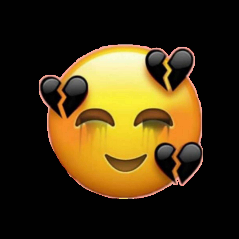 freetoeditcry black heart emoji iphone tumblr