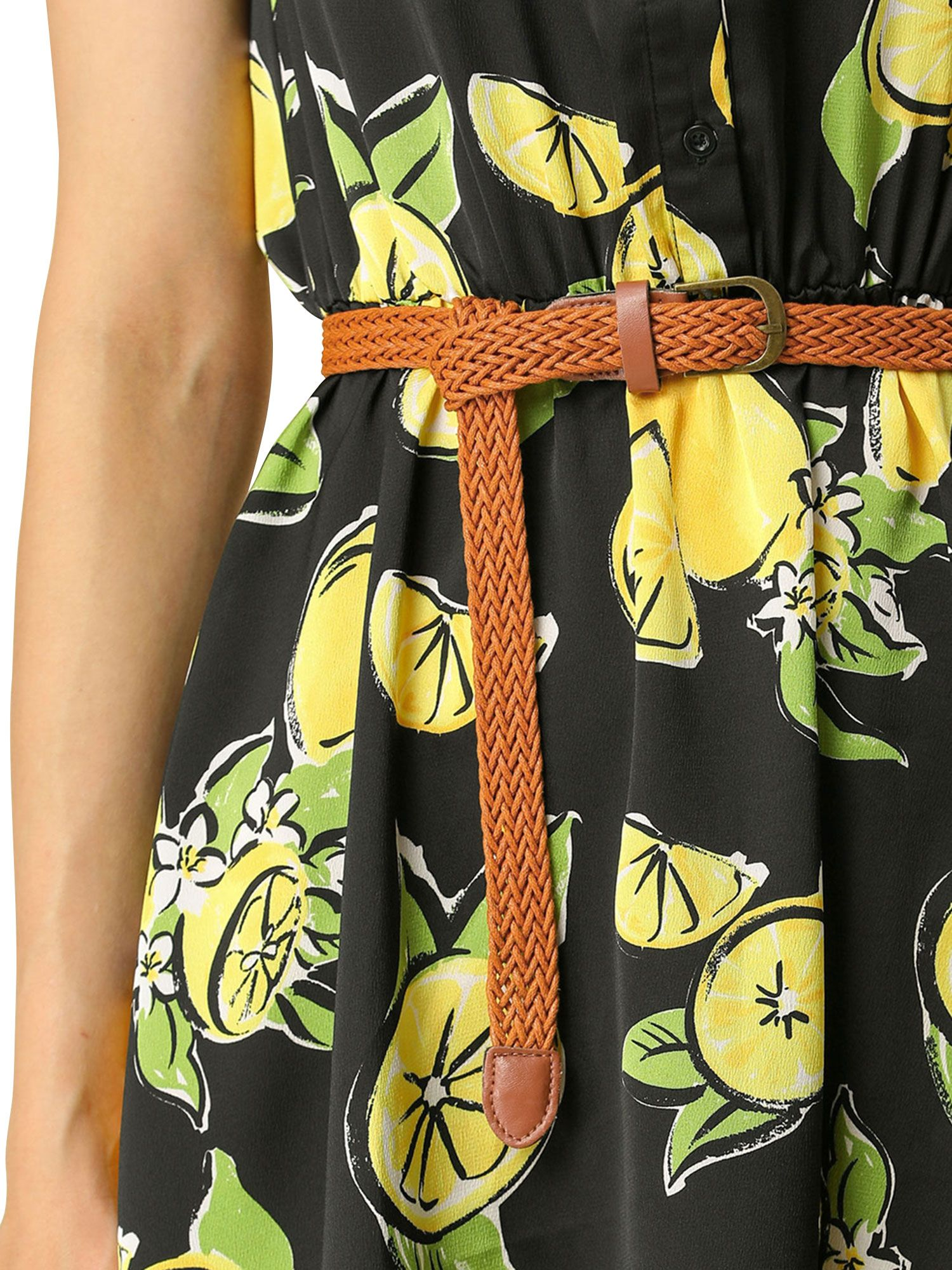 Unique Bargains Unique Bargains Women S Sleeveless Unlined Above Knee Mini Belted Dress Walmart Com Mini Shirt Dress Casual Style Outfits Sleeveless Mini Dress [ 2000 x 1500 Pixel ]