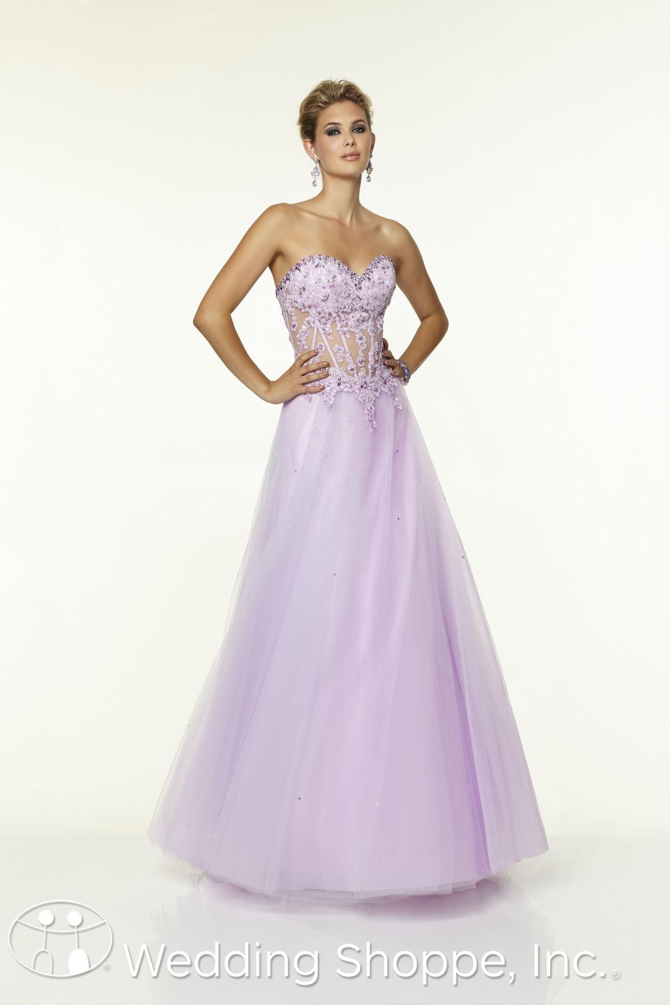 Purple Corset Prom Dresses