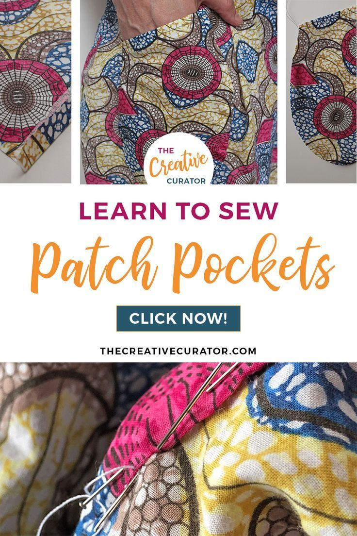 Patch Pocket Tutorial How To Sew Patch Pockets Sewing