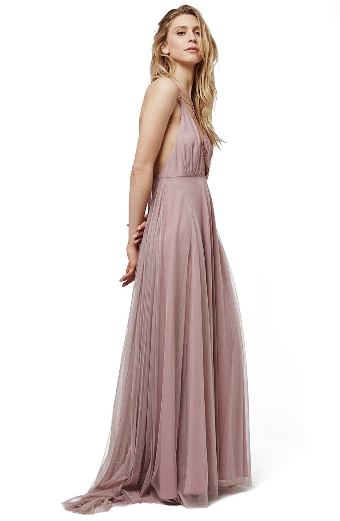 5eaad5dbdf7 Topshop Lace-Up Tulle Maxi Dress