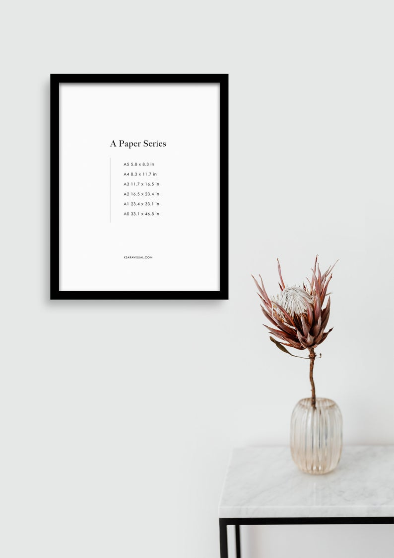 Frame Mockup 321 Thin Black Portrait Frame Mockup Styled Thin Frame Mock Up A4 Wall Art Display Psd Smart Object In 2020 Frame Mockups Portrait Frame Boho Frame