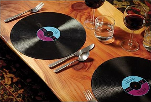 Record Placemats Placemats Creative Tables American Diner