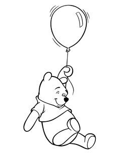 classic winnie the pooh coloring pages - Pooh Bear Coloring Pages Birthday
