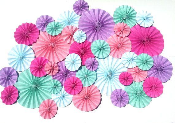 Purple Pink Blue Mint Pinwheels Wedding Event by DECORBYTORIA, $130.00