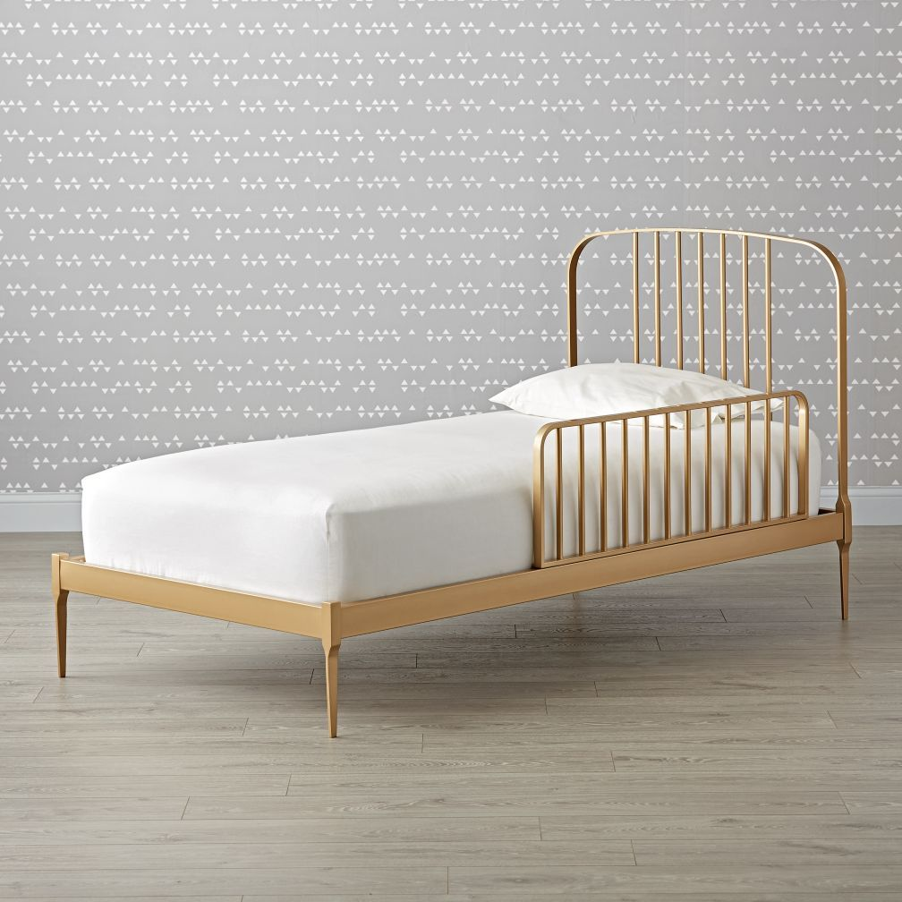 Larkin Gold Metal Twin Bed Gold bed, Bed frame, Bed