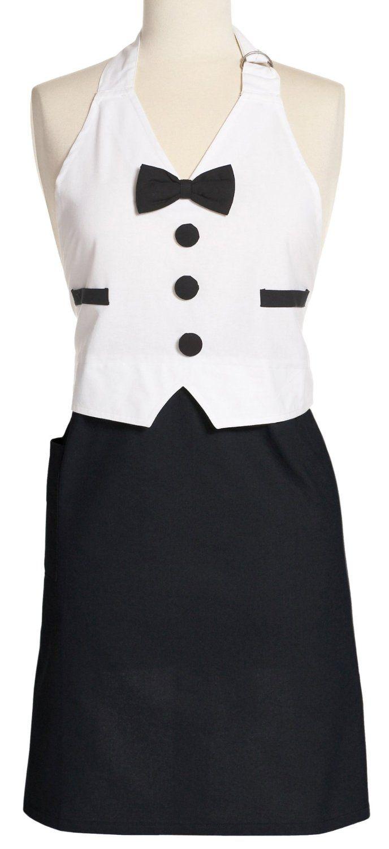 Amazon.com - DII Men\'s Tuxedo Apron Full, Black and White - Kitchen ...