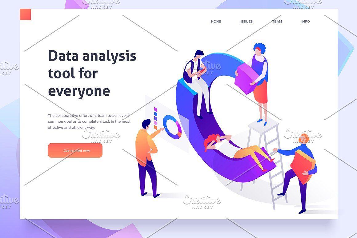 Charts Collection 5 Illustrations Isometric Illustration Data Analysis Tools Creative Web Design