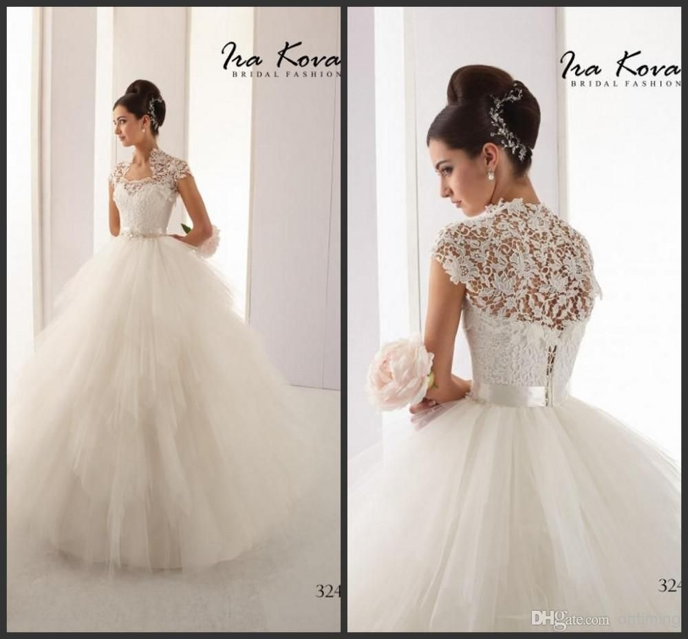 Puffy Wedding Dresses with Straps