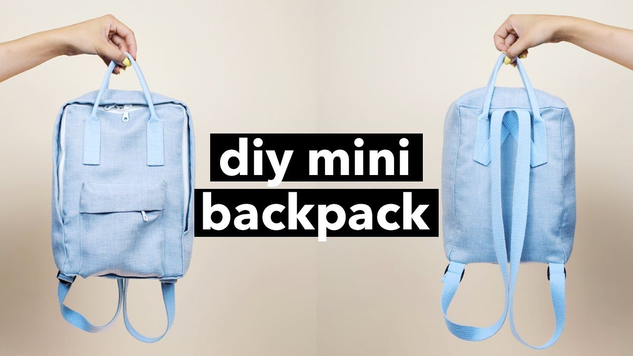 DIY Mini Backpack From Scratch! (Fjällräven Kånken style ...