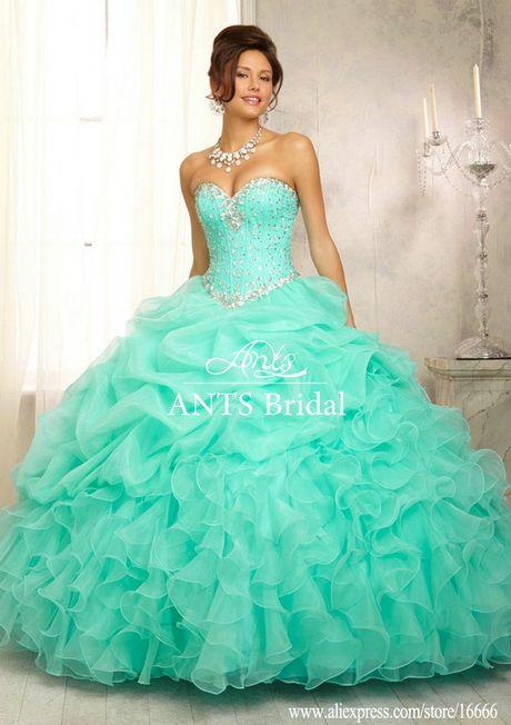 2503743a5 Vestidos de 15 años color verde agua