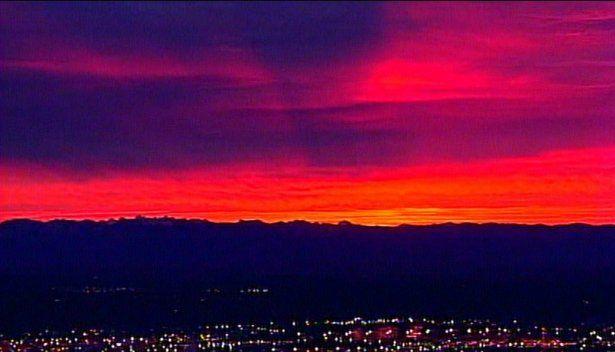Spectacular sunrise from Chopper 7