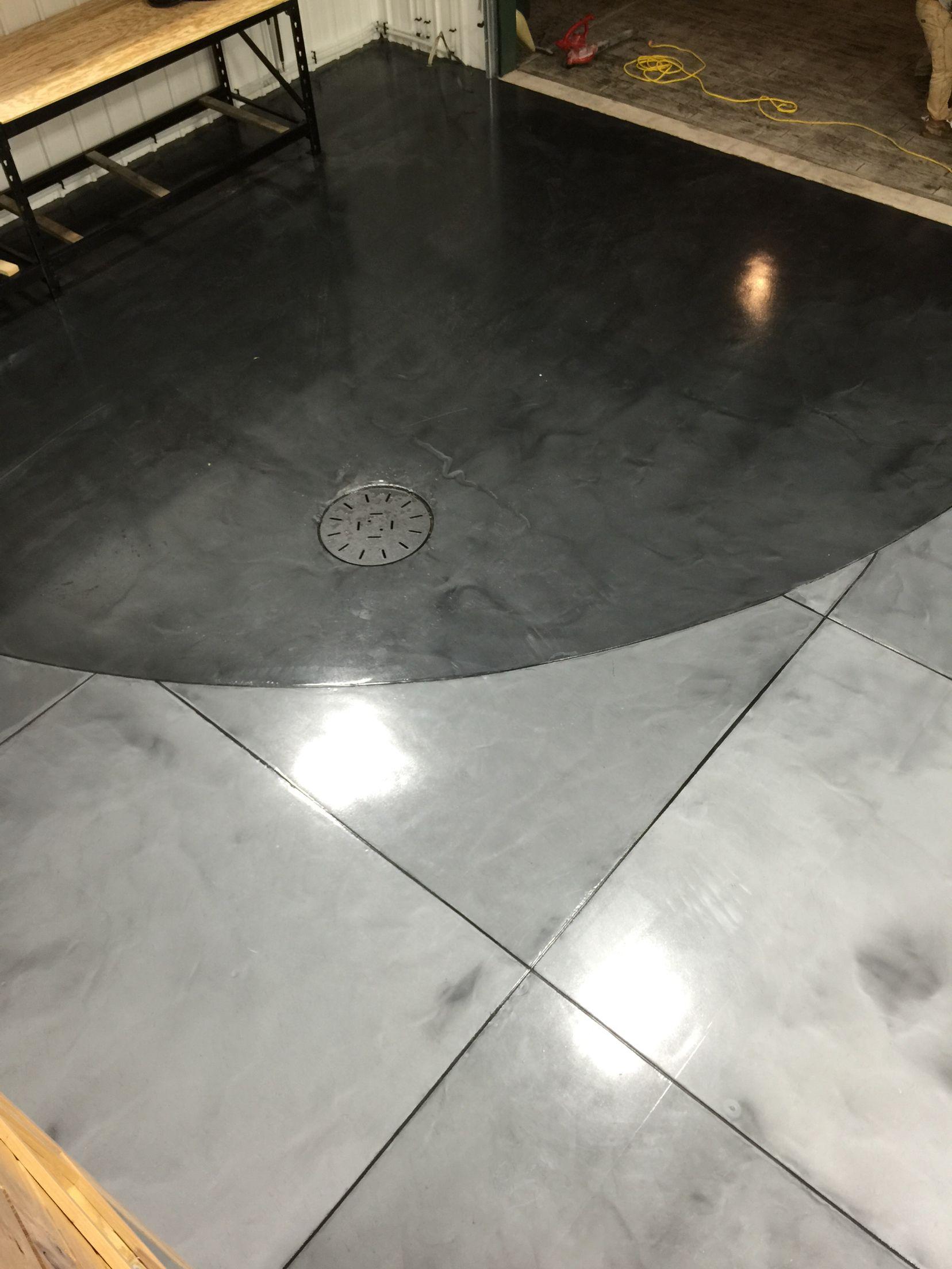 Metallic Epoxy Floor Coatings With Epoxy Grout Lines By Sierra
