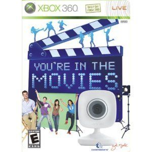 You're In The Movies XBox 360 Movie Game with Xbox LIVE Vision Camera Rated E New in Package