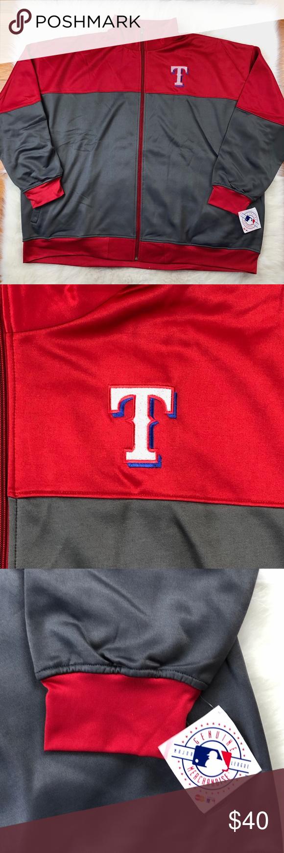 Mlb Texas Rangers Full Zip Big Man Track Jacket Texas Rangers Mlb Texas Rangers Mlb Jackets