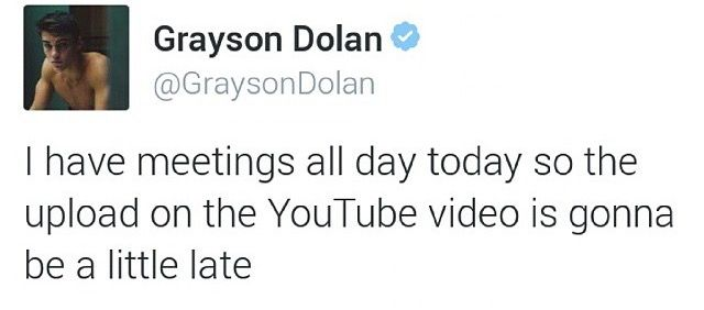 Is ok babe...  At least there is going to be a video...