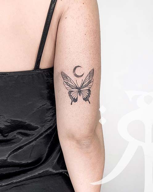 61 Pretty Butterfly Tattoo Designs and Placement Ideas | StayGlam