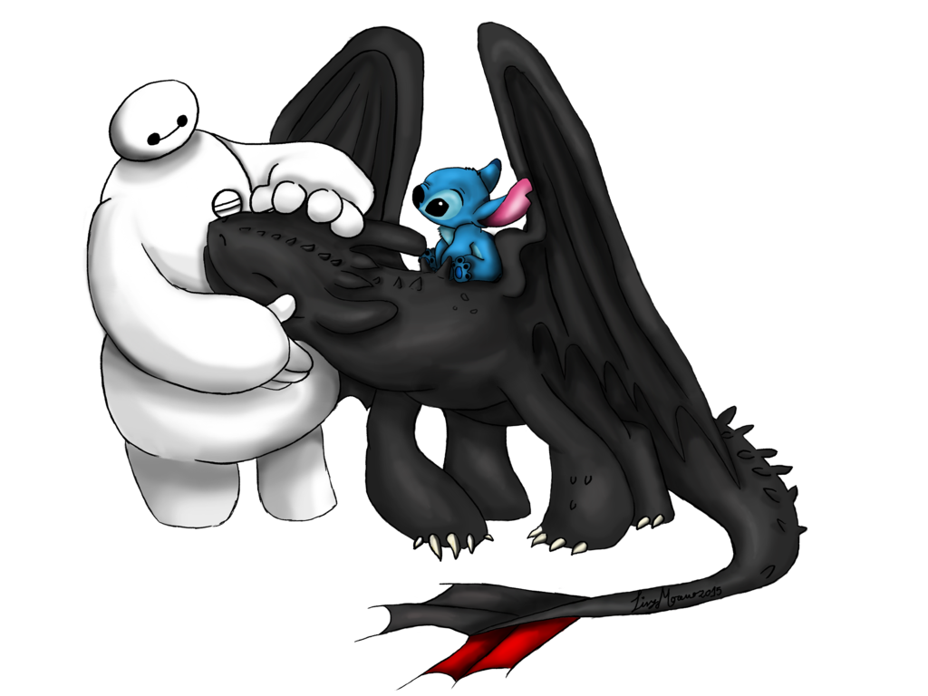 Cute Toothless And Stitch Wallpaper