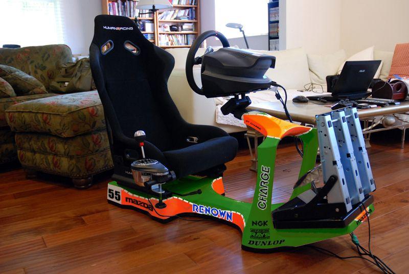 Mazda 787b human racing simulator chassis www for Zimmer einrichten simulation