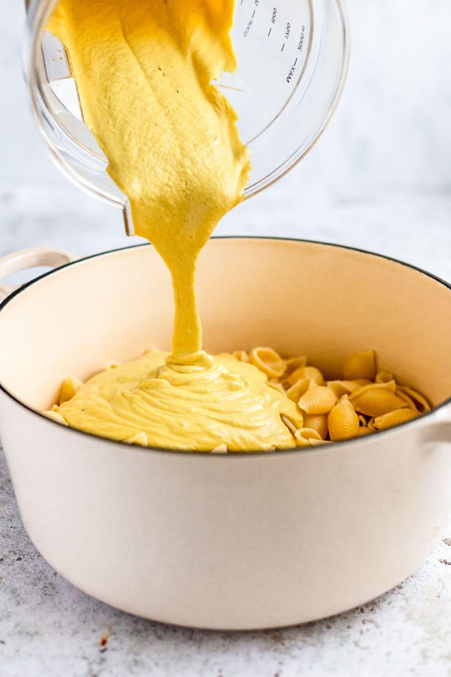 How To Make Vegan Cashew Cheese Sauce Ambitious Kitchen Recipe In 2020 Vegan Cashew Cheese Vegan Cheese Sauce Recipe Cashew Cheese