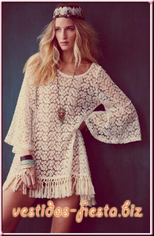 Vestidos de fiesta cortos hippies