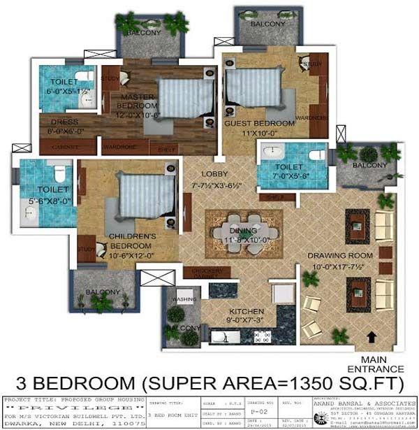 3 Bedroom Apartment In L Zone Delhi Near Dwarka Phase 2
