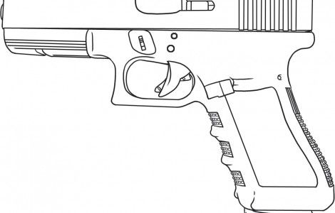 how to draw a gun coloring page