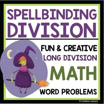 HALLOWEEN LONG DIVISION WITCH WORKSHEET | Long division ...