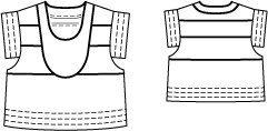 Seamed Crop Top 05/2014 #123 – Sewing Patterns | BurdaStyle.com
