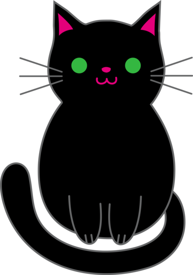 Cute Black Kitten Free Clip Art Cat Clipart Kitten Drawing Cute Black Kitten