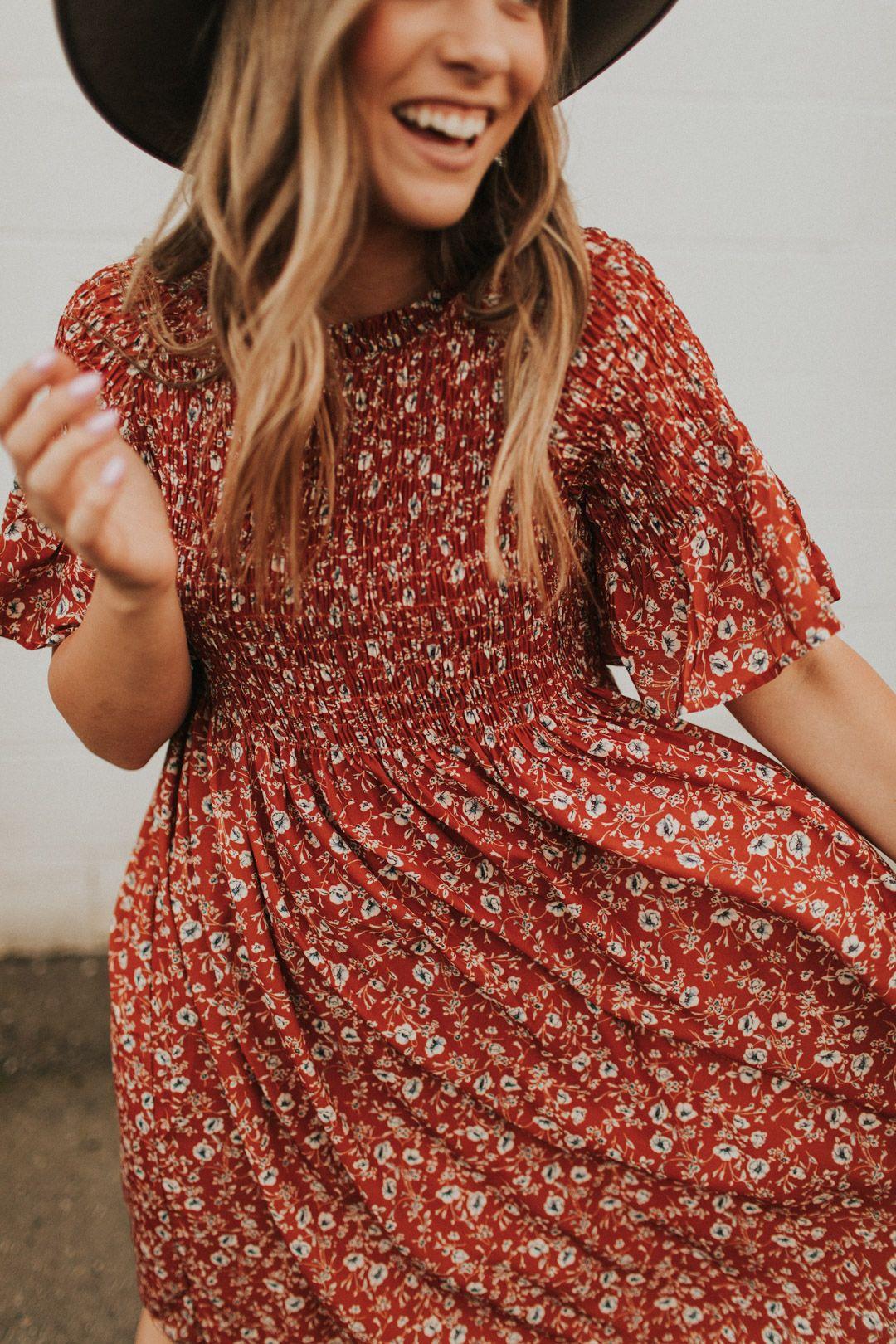 the perfect dress for fall #fall #falldress #falloutfit #churchoutfitfall