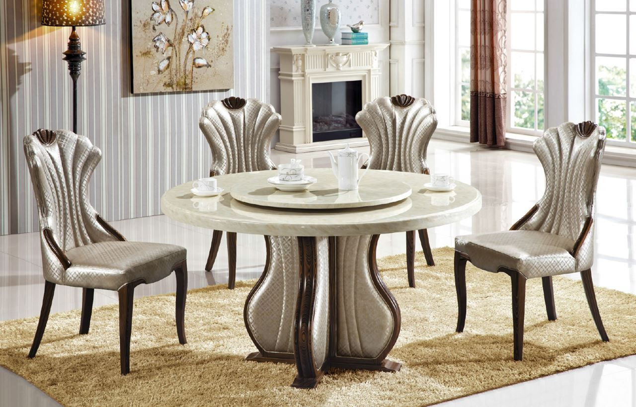 100 Round Marble Dining Table Set Cool Storage Furniture Check