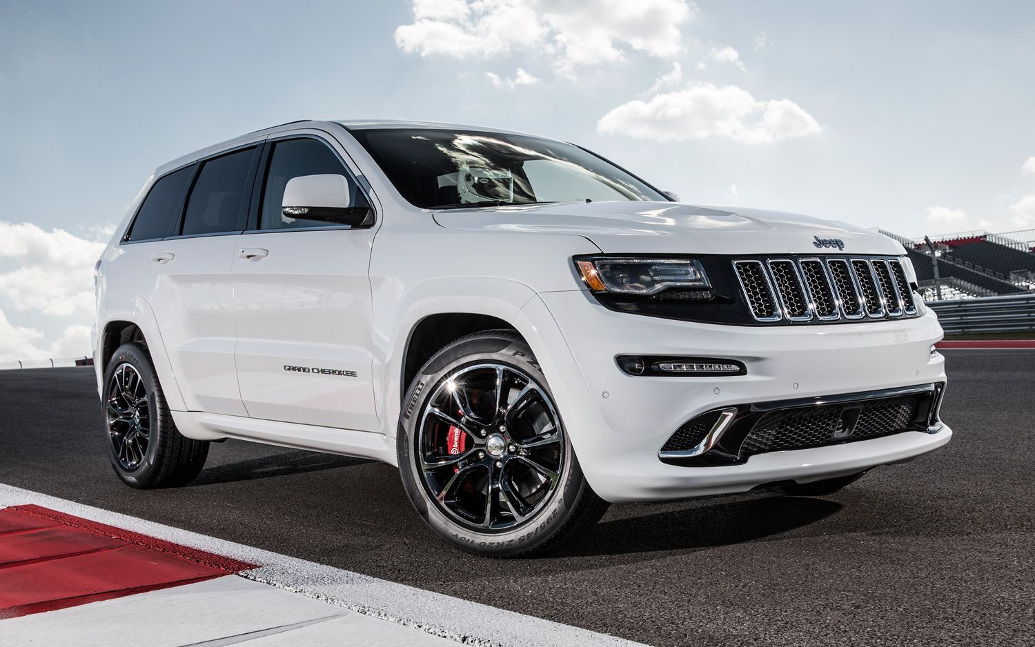 pictures of jeep srt8 | jeep cherokee 2014 white front side photo