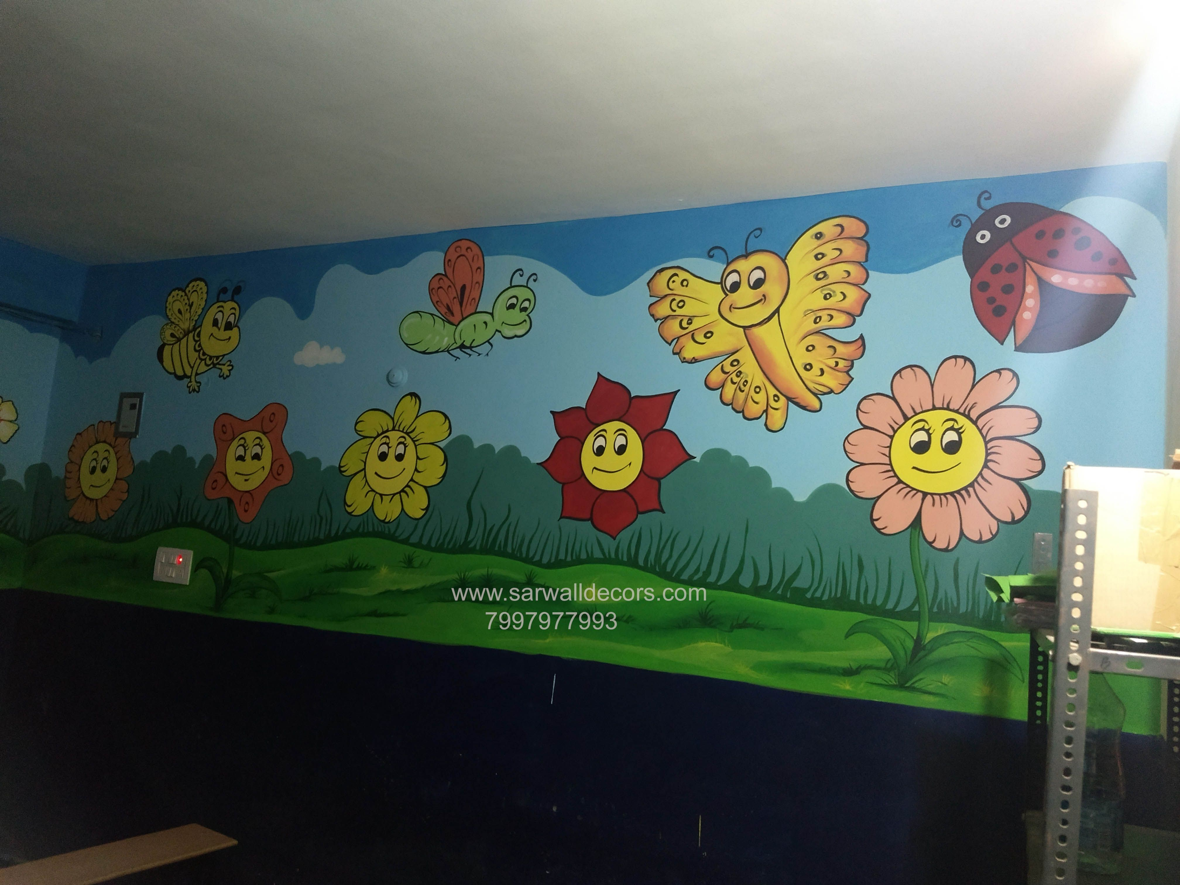 3dwallpaintingforplayschool