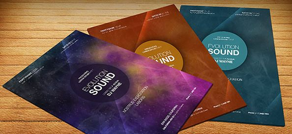 Free PSD Abstract Party Flyer Template Free PSD Files Free - Free photoshop brochure template