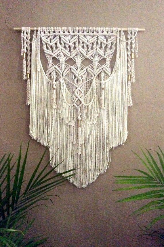 Grande Macrame colgante de pared tapicería tejido colgante de pared - tapices modernos
