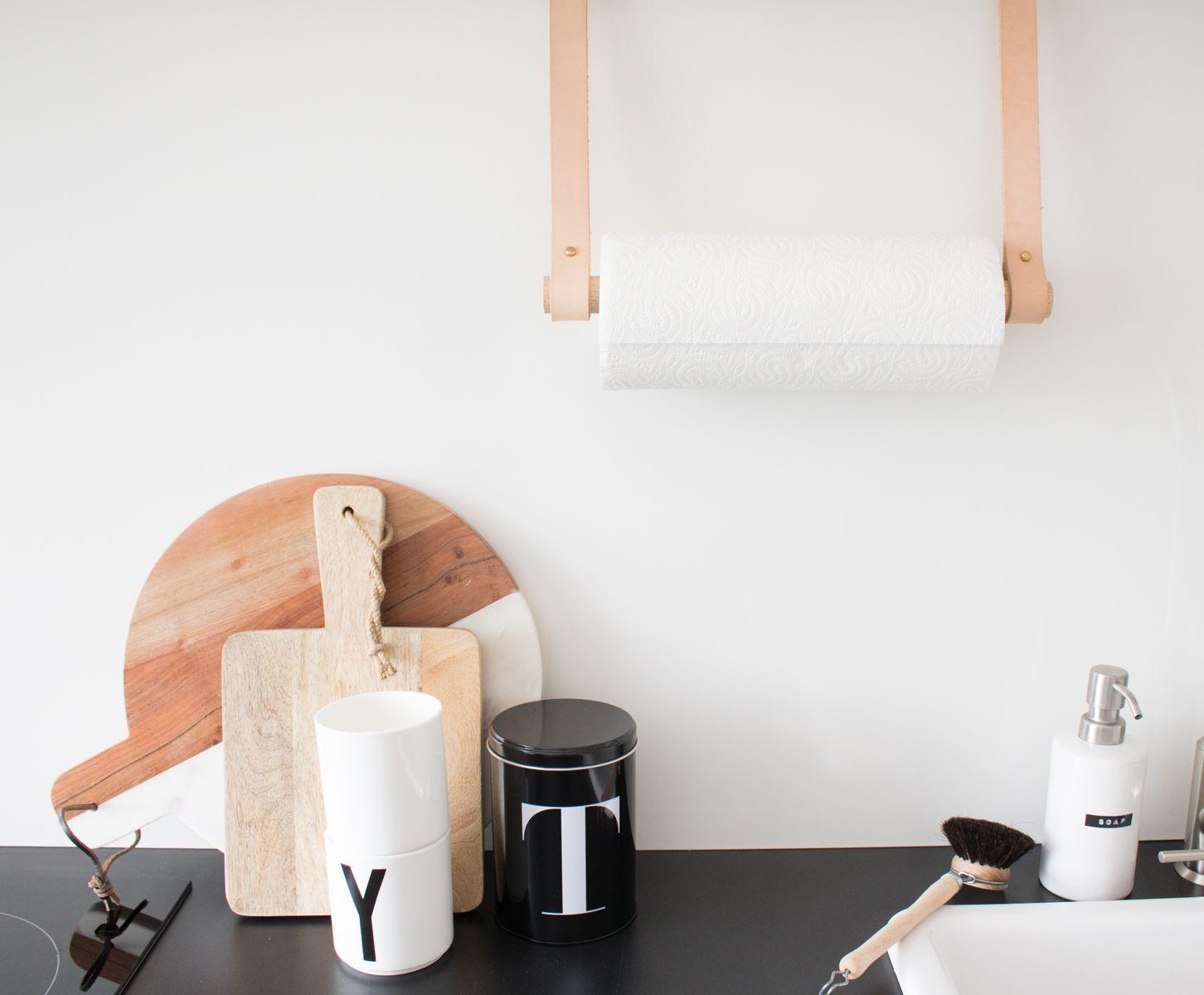Küchenrollenhalter Selber Bauen diy halter rollen und band