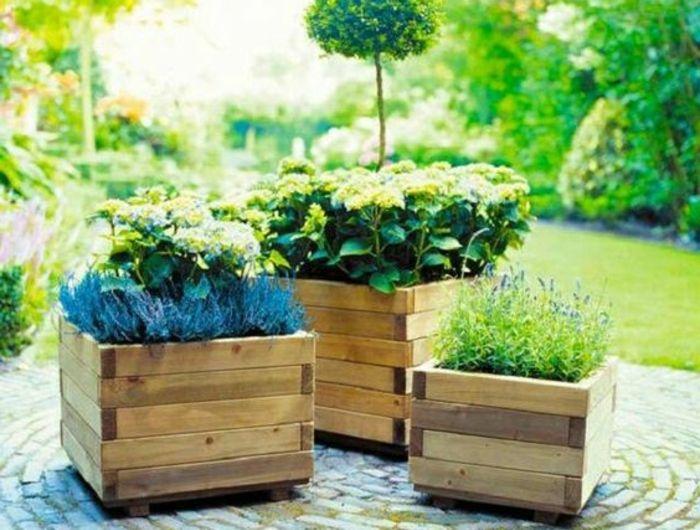 bac plante bois exterieur best superior pot en bois. Black Bedroom Furniture Sets. Home Design Ideas