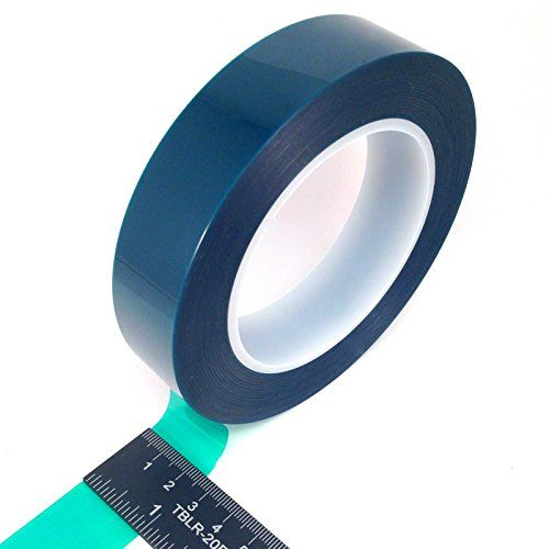 1 Wide High Temp Masking Tape For Powder Coating Custom Painting Hydrodip Sublimation Green Polyester Silicone Adhesive With Images Heat Tape Silicone Adhesive Masking Tape