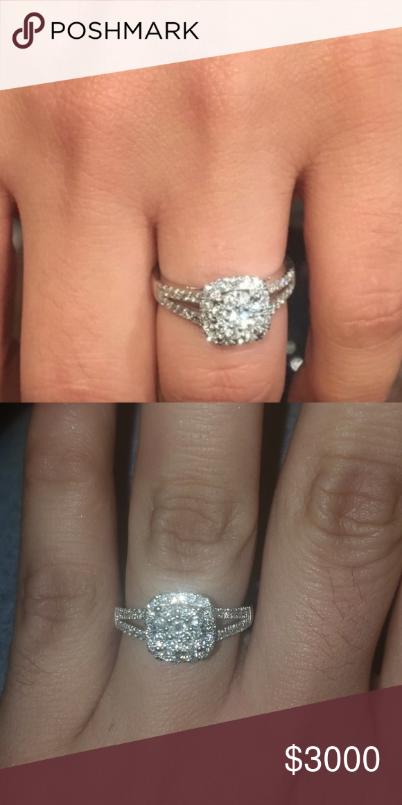 Zales 1 1 3 C Engagement Ring Worm Twice Then Changed My Mind On Getting Married 1 1 3 Carat 14 K White Gold Double Zales Jewelry Engagement Rings Engagement