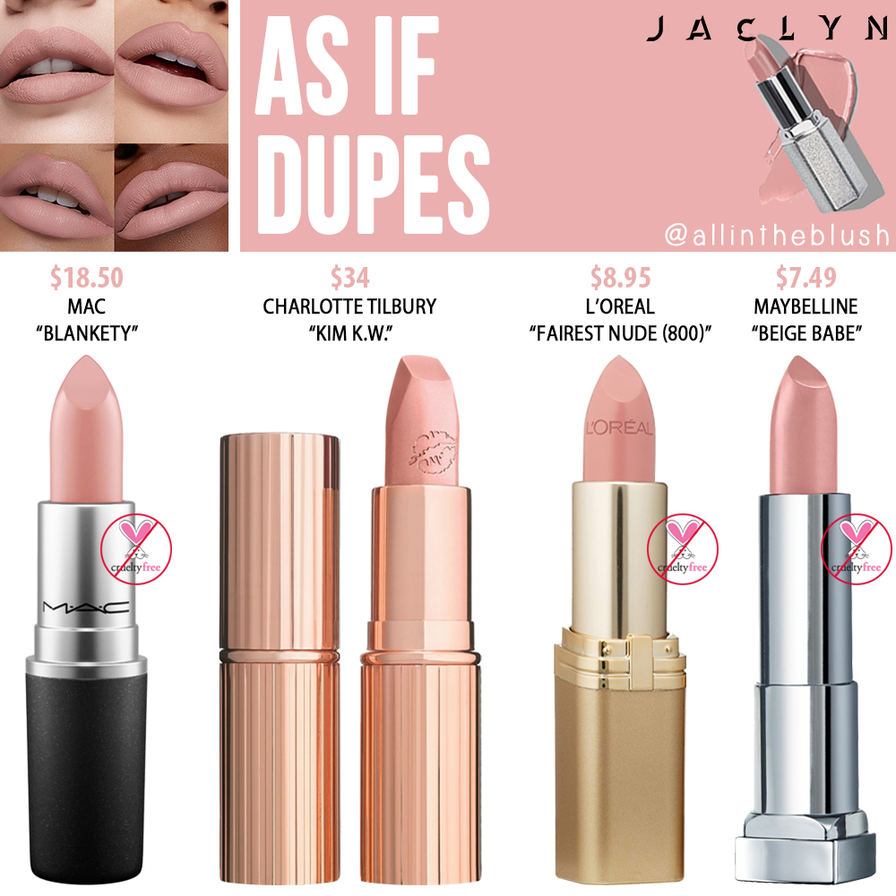 Jaclyn Hill Cosmetics As If Lipstick Dupes Makeup dupes