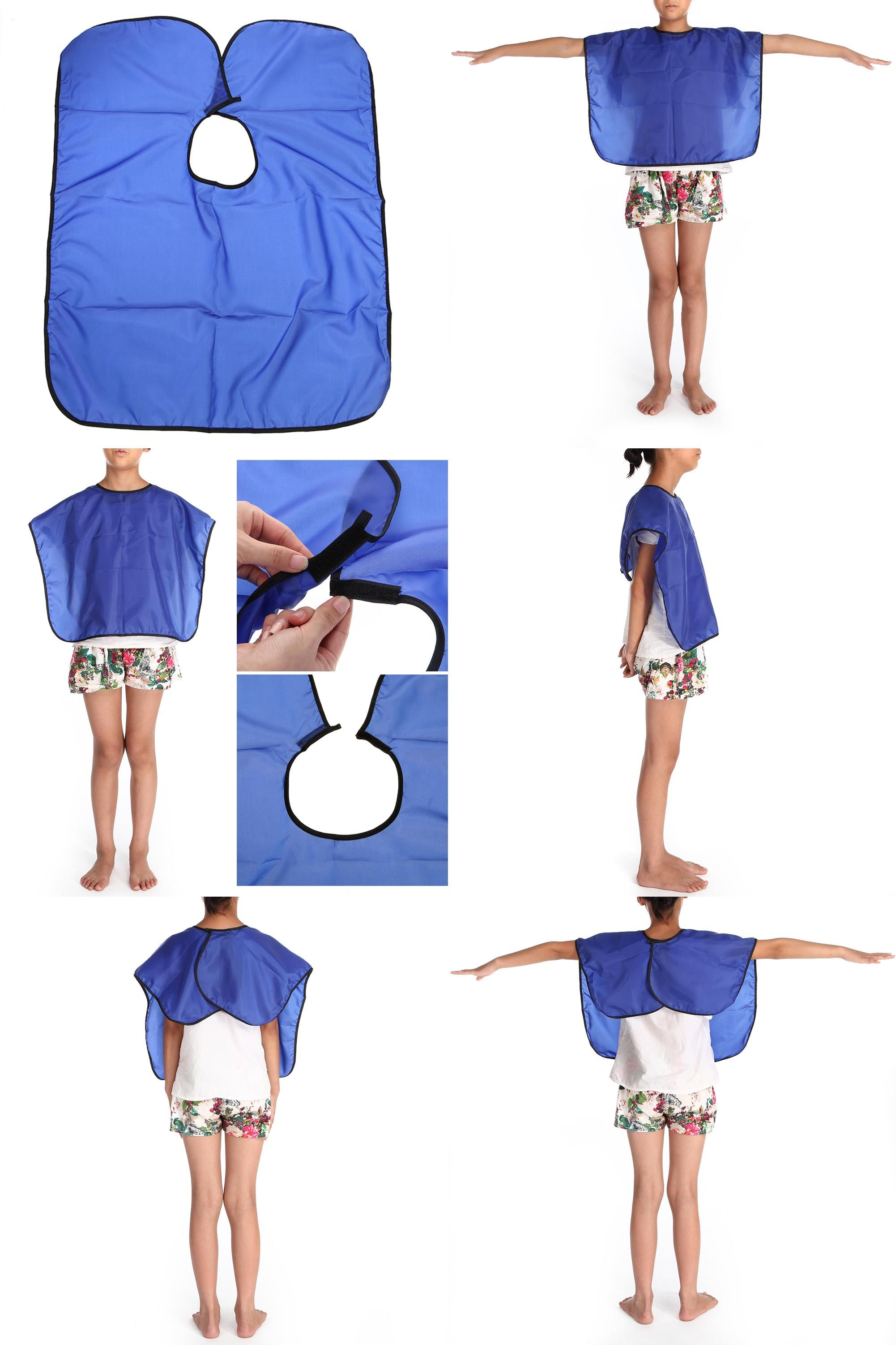 Visit to Buy Gown Hairdressing Apron Waterproof Children Adults